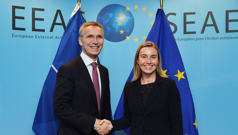 NATO Secretary General meets with the European Union High Representative for Foreign Affairs