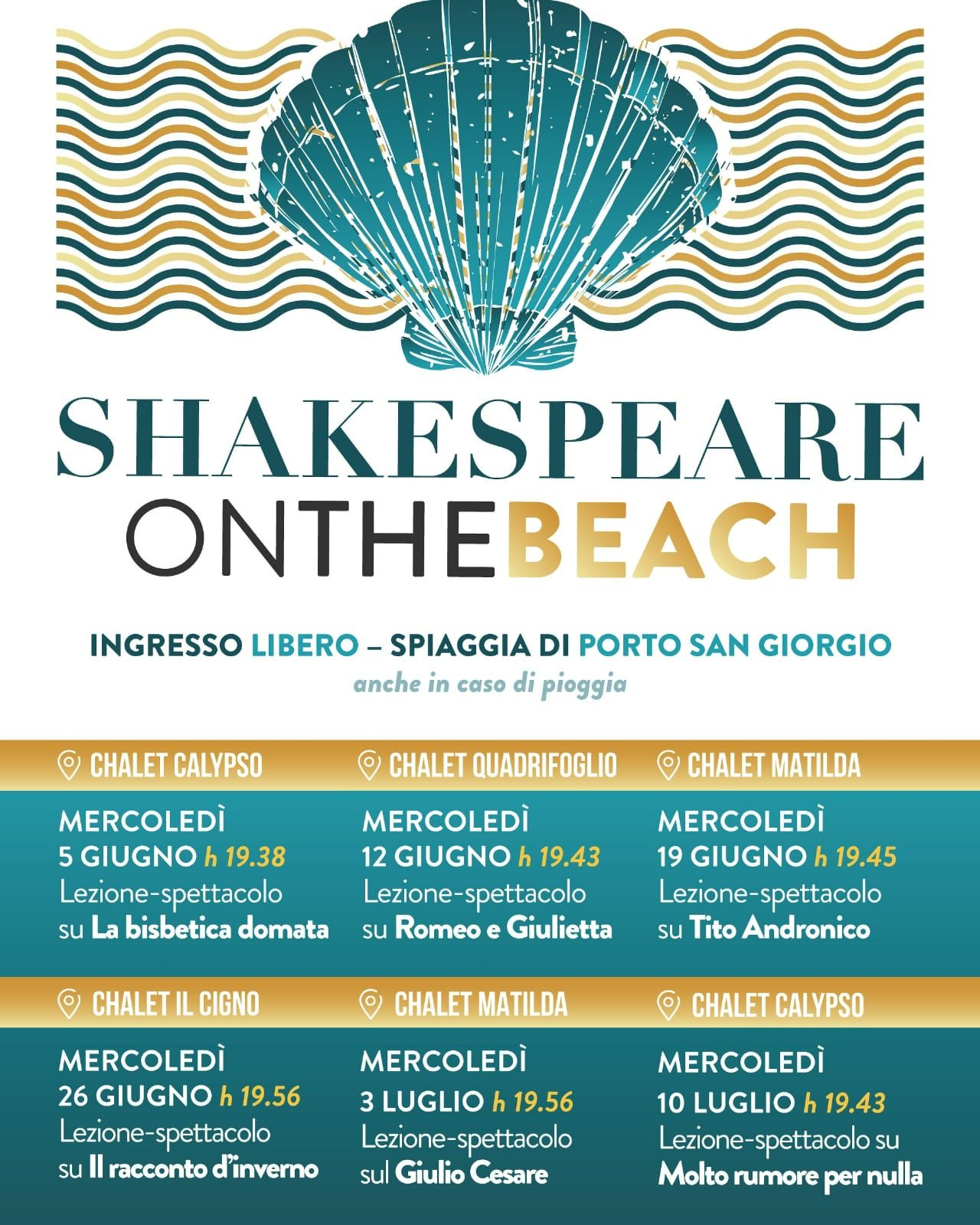 """Shakespeare on the beach"" riparte dal Calypso: il 5 giugno ""La Bisbetica Domata"""