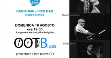 """Out Of The Blues"" la grande musica in riva al mare a Senigallia"